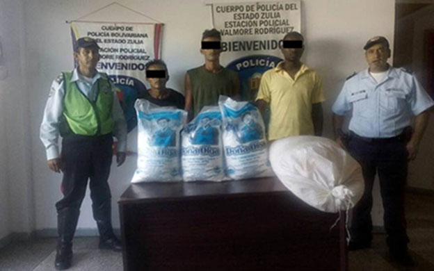 arrestados por ocultar 200 kilos de azúcar