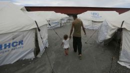 Campo de refugiados venezolanos en Brasil