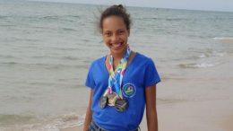 joven atleta francesa