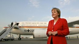 angela merkel avion