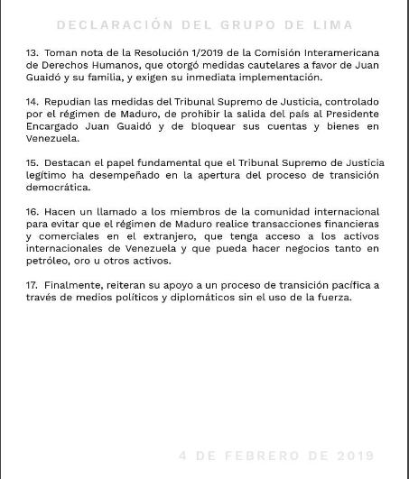 declaracion grupo de lima sobre venezuela 4