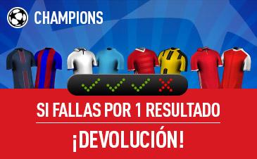 Sportium champions devolución combinada