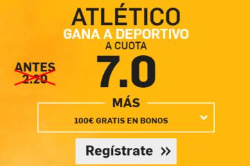 Supercuota Betfair Atlético Deportivo