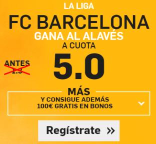 Supercuota Betfair Barcelona gana Alavés