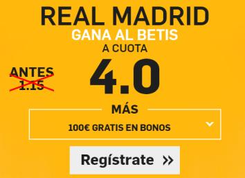 Supercuota Betfair Real Madrid Gana