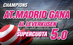 Wanabet Champions At Madrid gana Leverkusen