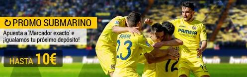 Bwin la Liga Betis - Villarreal igualamos tu depósito hasta 10€