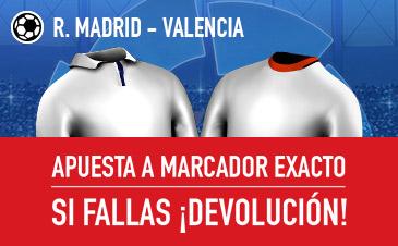 Sportium Real Madrid Valencia devolucion
