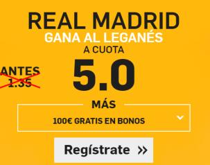 Supercuota Betfair Real Madrid - Leganés