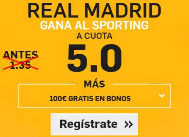 Supercuota Betfair Real Madrid Sporting