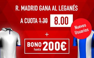 Supercuota Sportium R Madrid gana Al Leganés