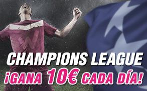 Wanabet gana 10€ Champions League