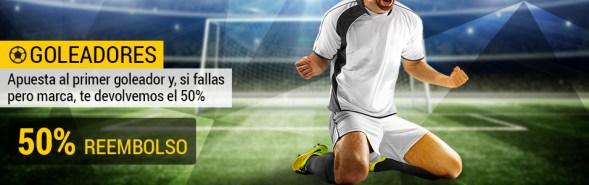 Bwin goleadores La Liga Espanyol - Valencia 50% reembolso