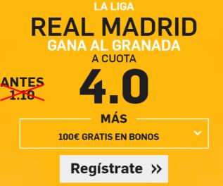 Supercuota Betfair la liga Real Madrid Granada
