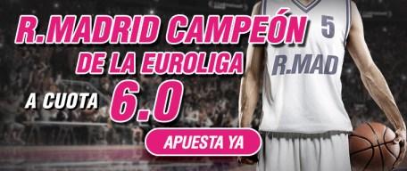 Supercuota Wanabet Euroliga R. Madrid Campeón a cuota 6.0
