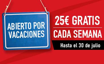 Sportium 5€ de regalo con cada combinada hasta 25€