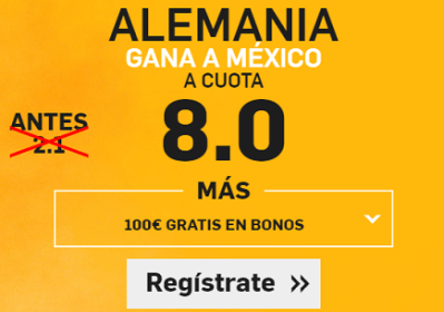 Supercuota Betfair Alemania vs Mexico