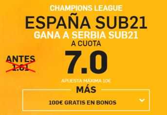 Supercuota Betfair España Sub21 Serbia