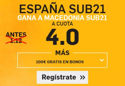 Supercuota Betfair España sub21