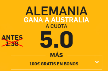 Supercuota Wanabet Alemania Australia