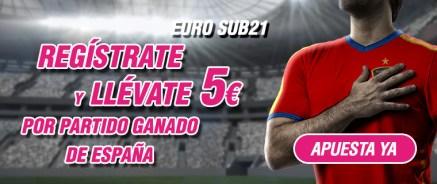 Wanabet Euro Sub21 Regístrate y llévate 5€ por partido ganado de España