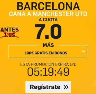 Supercuota Betfair Barcelona - Manchester United