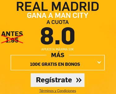 Supercuota Betfair Real Madrid - Man City