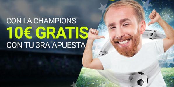 Luckia 10€ con la Champions gratis con tercera apuesta