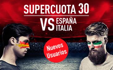 Supercuota 30 Sportium para Espaá - Italia