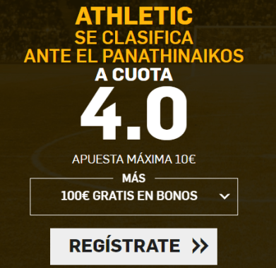 Supercuota Betfair Athletic gana Panathinaikos