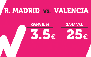 Supercuota Wanabet Real Madrid vs Valencia la Liga