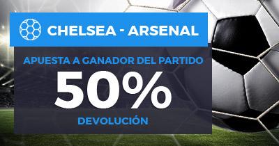 Paston Chelsea - Arsenal 50% devolución