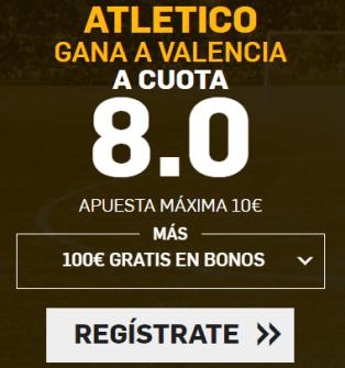 Supercuota Betfair Atlético gana a Valencia