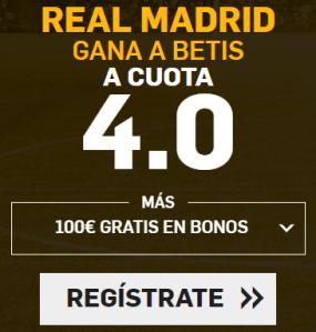 Supercuota Betfair Real Madrid gana a Betis