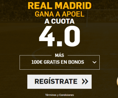 Supercuota Betfair Real Madrid vs Apoel
