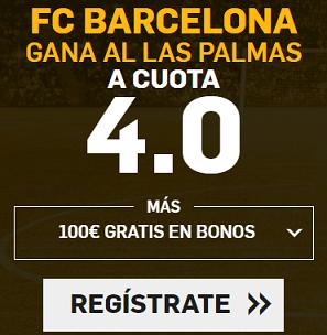Supercuota Betfair la Liga - FC Barcelona gana a las Palmas cuota 4.0