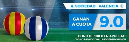 Supercuota Paston la Liga Real Sociedad - Valencia
