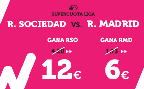 Supercuota Wanabet R. Sociedad vs R. Madrid