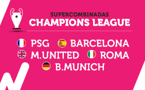 Wanabet Supercombinadas Champions League cuota 9.00