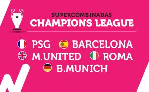 Wanabet Supercombinadas Champions League cuota 9.00