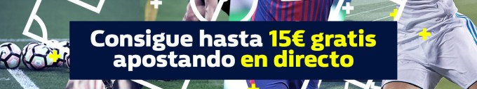 WilliamHill 15€ apostando en directo