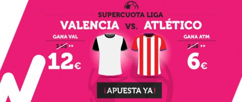 supercuota wanabet la liga Valencia vs Atlético