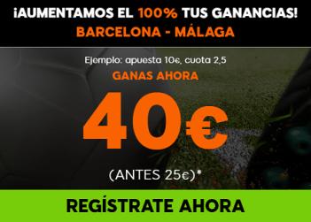 Supercuota 888sport la liga Barcelona - Malaga
