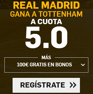 Supercuota Betfair Champions Real Madrid Tottenham