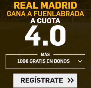 Supercuota Betfair la liga - Real Madrid gana Fuenlabrada