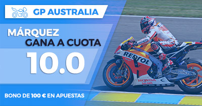 Supercuota Paston GP Australia - Marquez gana a cuota 10.0