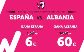 Supercuota Wanabet Clasificación Mundial - España vs Albania