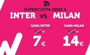 Supercuota Wanabet Serie A - Inter vs Milan