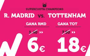 Supercuota wanabet Champions R. Madrid vs Tottenham