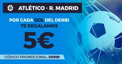 Paston la Liga Atlético - R. Madrid cada gol 5€